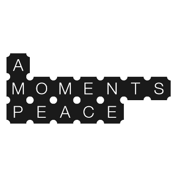 An image of A Moments Peace Theatre Company Logo, black with a white background