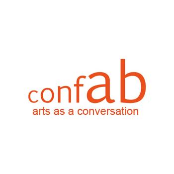 conFAB logo in orange text on white background