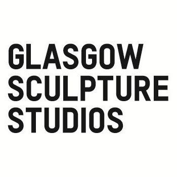glasgow sculpture studios logo in bold black text on white backgrond.