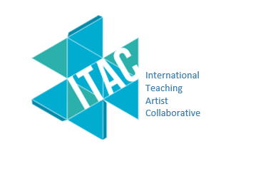 ITAC logo, blue and green triangles on white background with blue text.