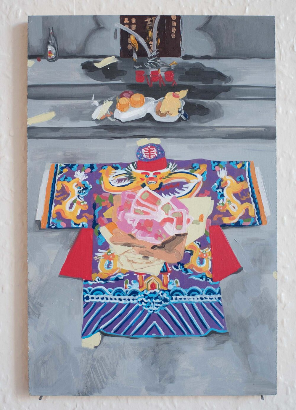 image of a painting by Karlie Wu depicting traditional chinese clothing and objects.