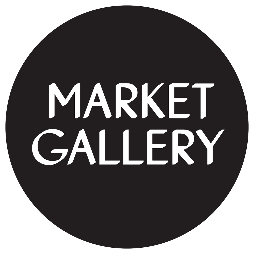 market gallery logo in white text in black circle