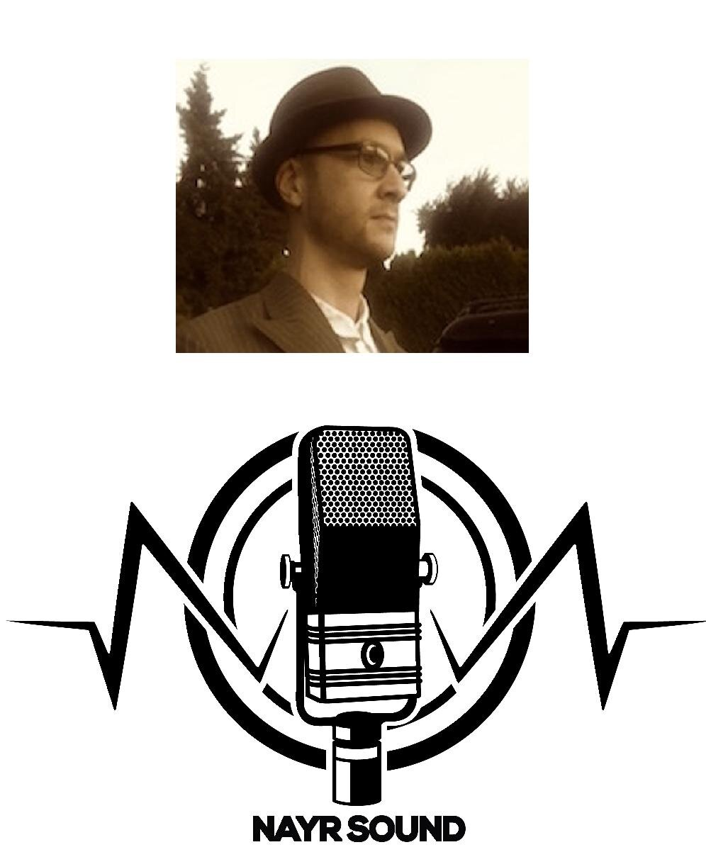 profile Image of Ryan Scott from Nayr Cound above a logo of a microphone.