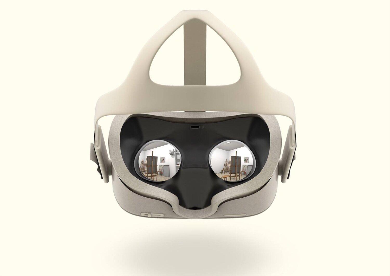 a virtual reality face mask.