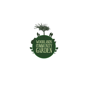 woodlands community garden logo.