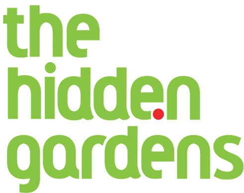 the hidden gardens logo.