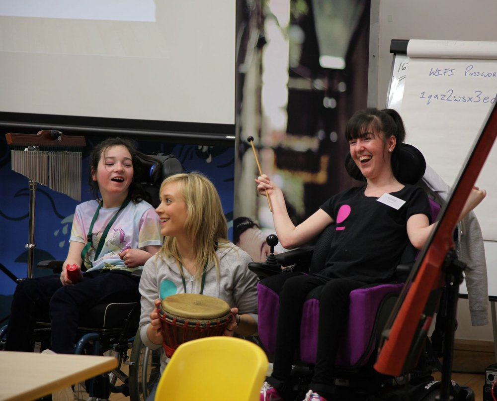 paragon music service users taking part in a music activity.
