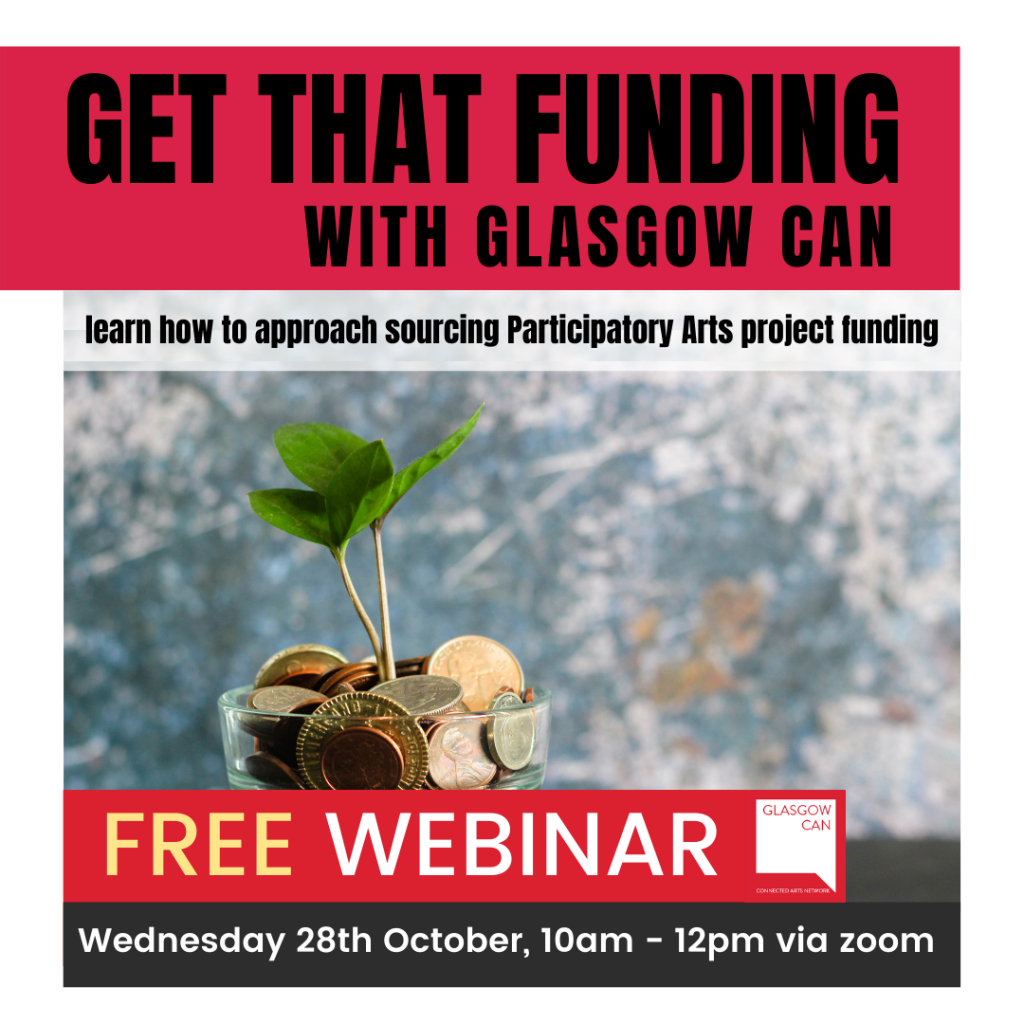 promotional image for 'get that funding' training event.