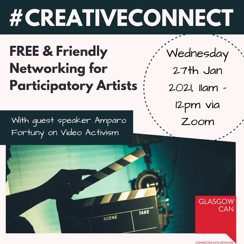 a promotional flyer for creative connect networking event.